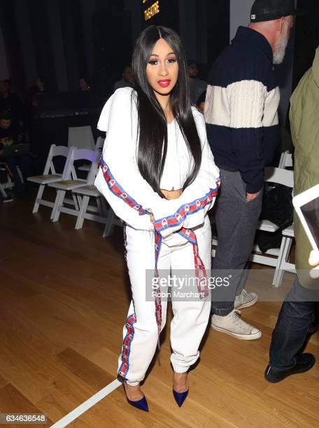 Cardi B attends VFILES Front Row during New York Fashion Week on February 10 2017 in New York City