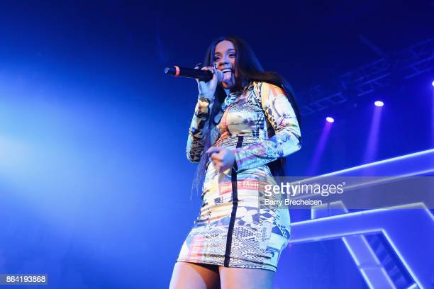 Cardi B performs at Spotify's RapCaviar Live in Chicago at Aragon Ballroom on October 20 2017 in Chicago Illinois