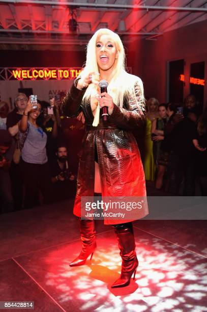 Cardi B performs during Airbnb's New York City Experiences Launch Event on September 26 2017 in the Brooklyn borough of New York City City