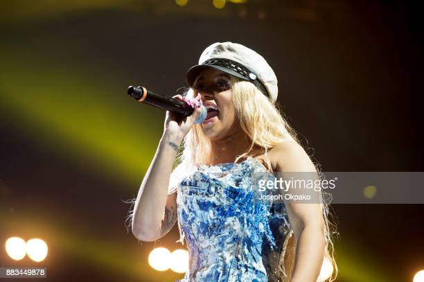 Cardi B performs during Spotify Presents Who We Be Live at Alexandra Palace on November 30 2017 in London England