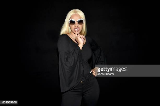 Cardi B poses backstage during rehearsals for the 2017 MTV Video Music Awards at The Forum on August 25 2017 in Inglewood California