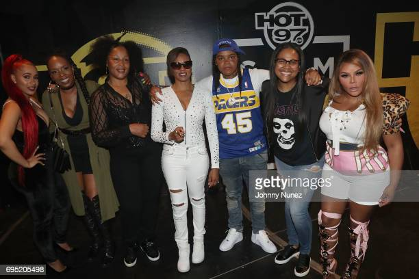 Cardi B Rah Digga The Lady of Rage MC Lyte Young MA Monie Love and Lil Kim backstage at the 2017 Hot 97 Summer Jam at MetLife Stadium on June 11 2017...