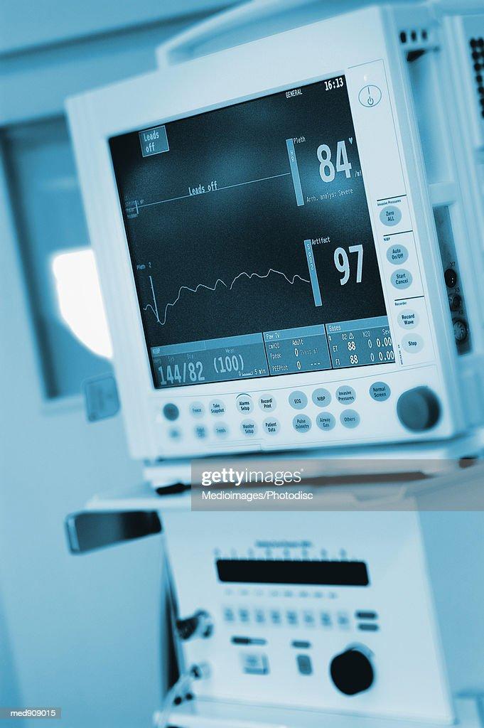 Cardiac Monitor, Close-up : Stock Photo