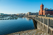 Cardiff bay on a sunny winter day in January 2018