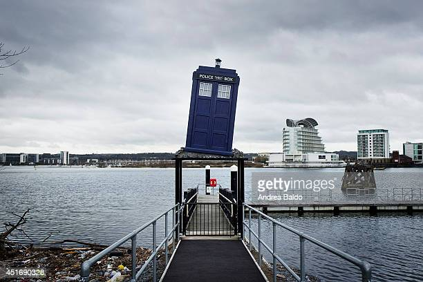 Cardiff Bay seen from the BBC studio and Dr Who museum in Cardiff Wales