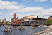 Cardiff Bay (Welsh: Bae Caerdydd) is the area created by the Cardiff Barrage in South Cardiff, the capital of Wales.
