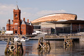 'A picture of Cardiff Bay Waterfront including the Senedd Building, Pierhead Building & Wales Millennium Centre'