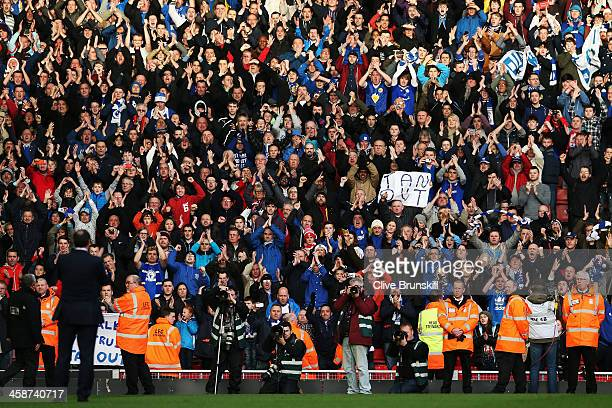Cardiff City manager Malky Mackay applauds his sides fans following the Barclays Premier League match between Liverpool and Cardiff City at Anfield...