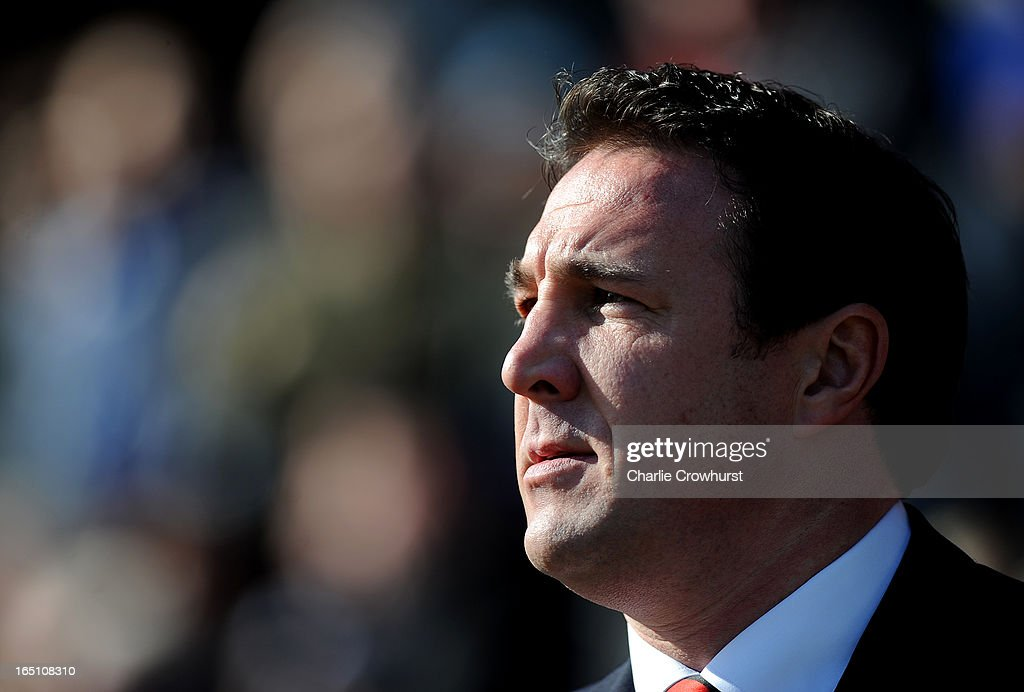 Cardiff City manager <a gi-track='captionPersonalityLinkClicked' href=/galleries/search?phrase=Malky+Mackay&family=editorial&specificpeople=227119 ng-click='$event.stopPropagation()'>Malky Mackay</a> before the npower Championship match between Peterborough United and Cardiff City at London Road on March 30, 2013 in Peterborough, England,