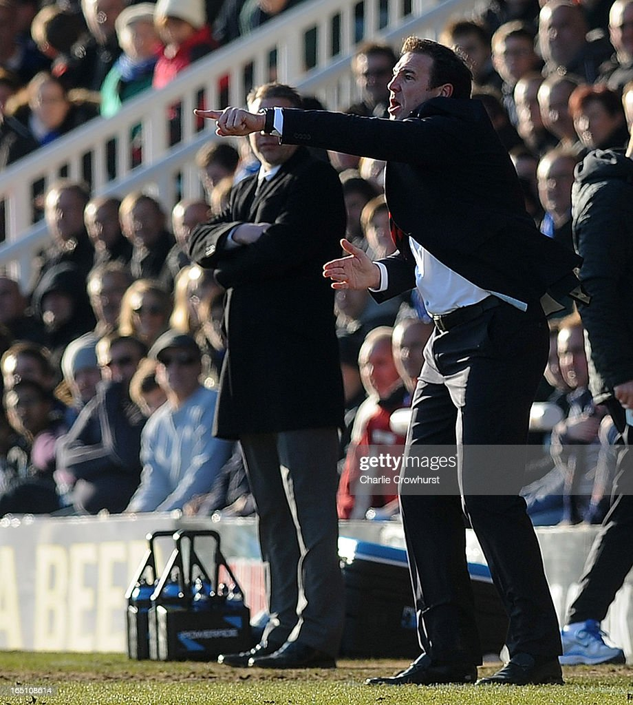 Cardiff City manager Malky Mackay issues instructions during the npower Championship match between Peterborough United and Cardiff City at London Road on March 30, 2013 in Peterborough, England,