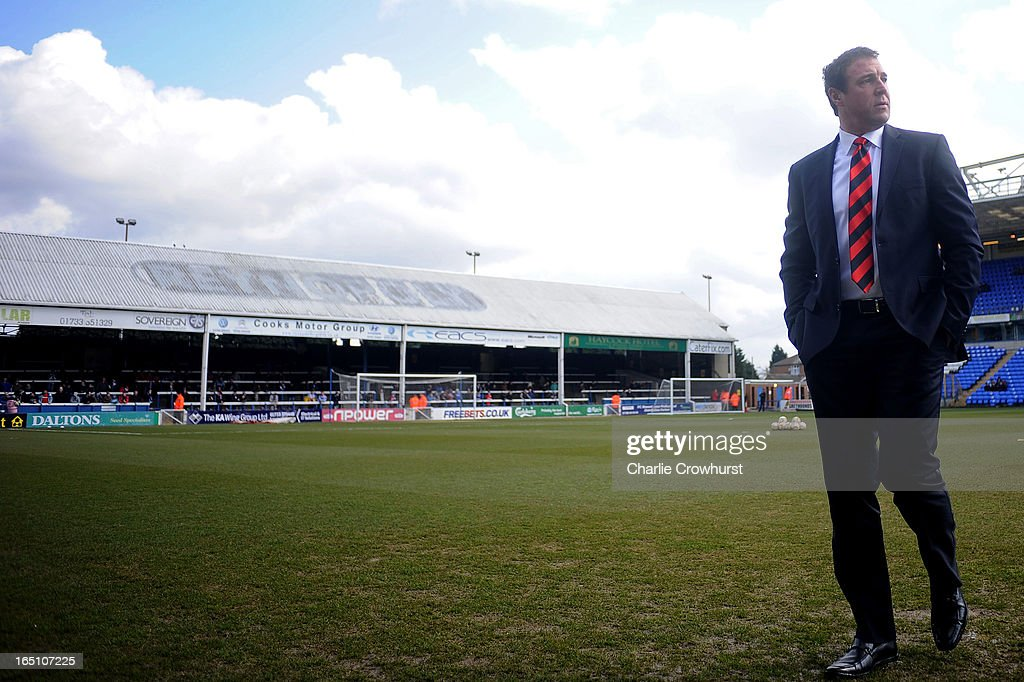 Cardiff City manager Malky Mackay looks on before the npower Championship match between Peterborough United and Cardiff City at London Road on March 30, 2013 in Peterborough, England,
