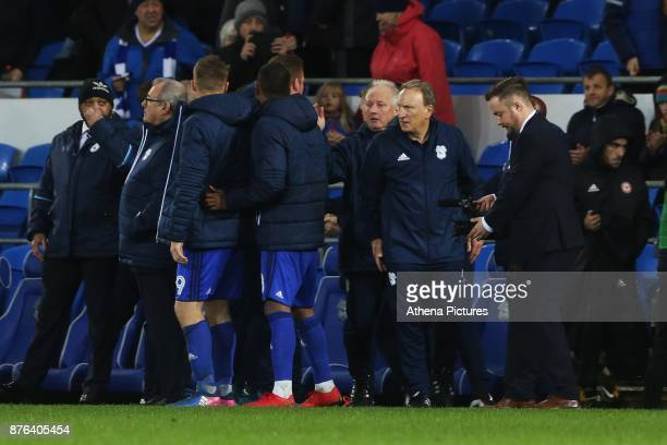 Cardiff City manager Neil Warnock after the final whistle of the Sky Bet Championship match between Cardiff City and Brentford at the Cardiff City...