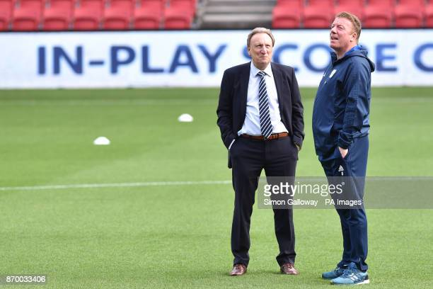 Cardiff City manager Neil Warnock before the Sky Bet Championship match at Ashton Gate Bristol