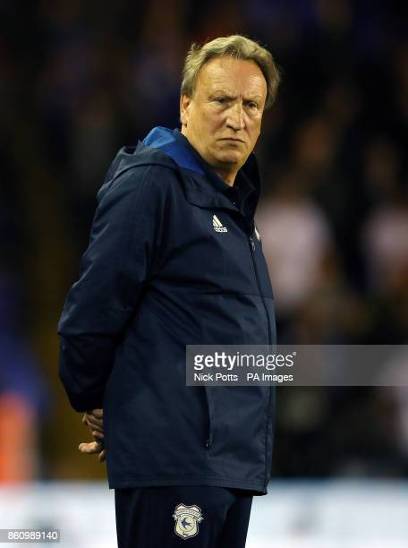 Cardiff City manager Neil Warnock during the Sky Bet Championship match St Andrews Birmingham