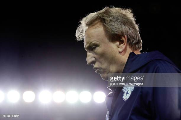 Cardiff City manager Neil Warnock during the Sky Bet Championship match St Andrew's Birmingham
