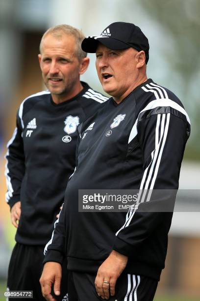 Cardiff City Manager Russell Slade with Head Coach Paul Trollope