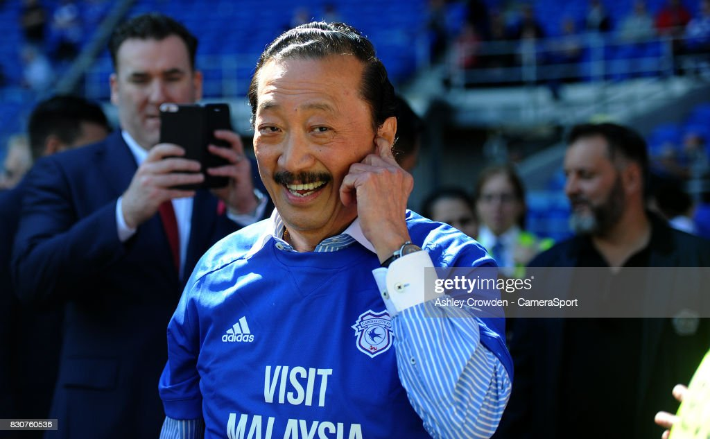 Cardiff City owner Vincent Tan during the Sky Bet Championship match between Cardiff City and Aston Villa at Cardiff City Stadium on August 12, 2017 in Cardiff, Wales.