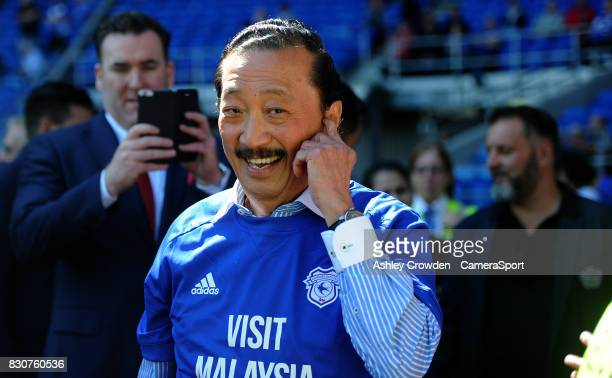 Cardiff City owner Vincent Tan during the Sky Bet Championship match between Cardiff City and Aston Villa at Cardiff City Stadium on August 12 2017...
