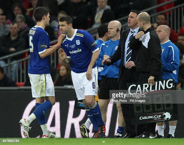 Cardiff City's Anthony Gerrard comes on as a substitute for Mark Hudson