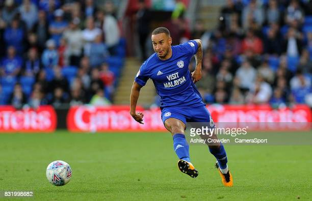 Cardiff City's Jazz Richards during the Sky Bet Championship match between Cardiff City and Sheffield United at Cardiff City Stadium on August 15...