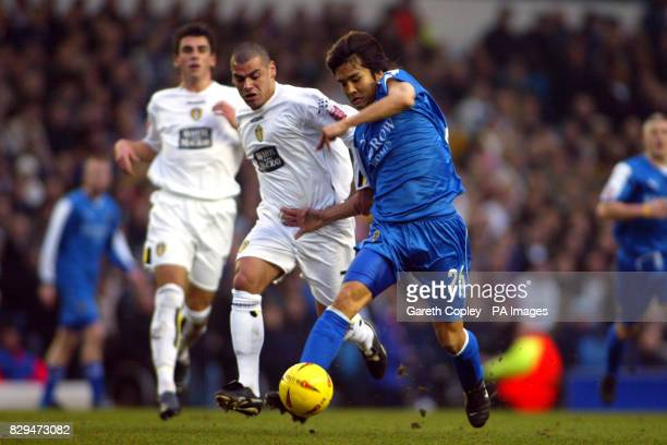 Cardiff City's Junichi Inamoto gets past Leeds United's Jermaine Wright THIS PICTURE CAN ONLY BE USED WITHIN THE CONTEXT OF AN EDITORIAL FEATURE NO...