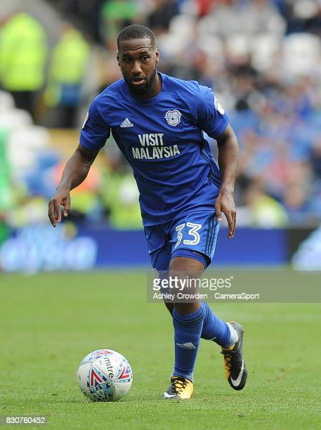 Cardiff City's Junior Hoilett in action during the Sky Bet Championship match between Cardiff City and Aston Villa at Cardiff City Stadium on August...