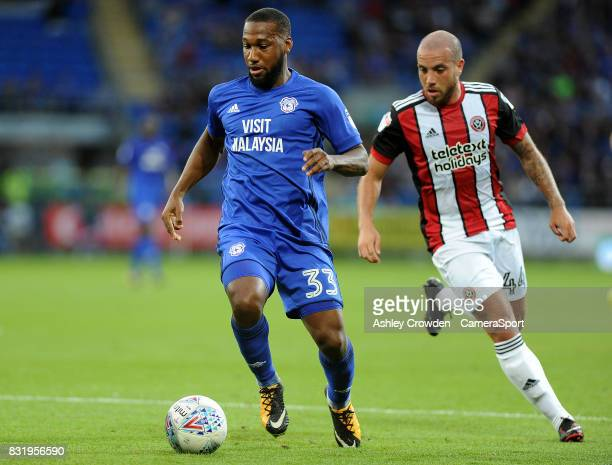 Cardiff City's Junior Hoilett in action during the Sky Bet Championship match between Cardiff City and Sheffield United at Cardiff City Stadium on...
