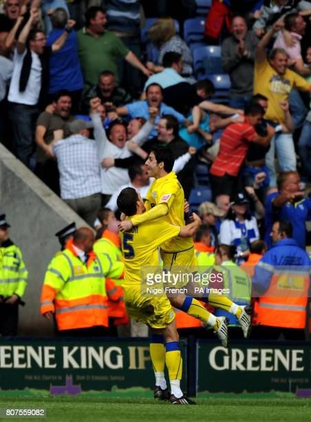 Cardiff City's Peter Whittingham celebrates his goal during the CocaCola Championship Play off first leg at the Walkers Stadium Leicester