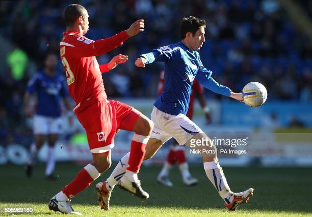 Cardiff City's Peter Whittingham hits a volley to score his side's first goal of the game
