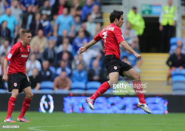 Cardiff City's Peter Whittingham scores his second goal during the npower Football League Championship match at the Cardiff City Stadium Cardiff