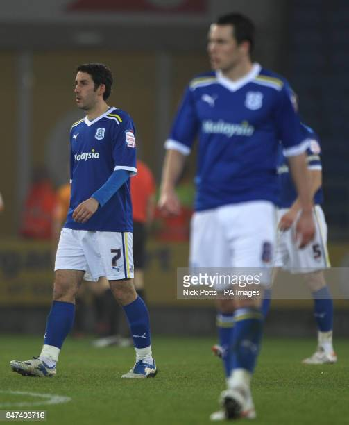 Cardiff City's Peter Whittingham shows his dejection after his error lead to Hull City's second goal during the npower Football League Championship...