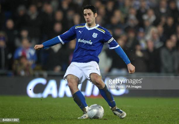 Cardiff City's Peter Whittingham takes a penalty during the shoot out