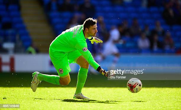 Cardiff goalkeeper David Marshall in action during the Sky Bet Championship match between Cardiff City and Bolton Wanderers at Cardiff City Stadium...