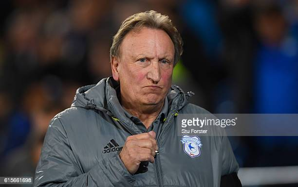 Cardiff manager Neil Warnock looks on before the Sky Bet Championship match between Cardiff City and Sheffield Wednesday at Cardiff City Stadium on...