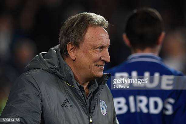Cardiff manager Neil Warnock looks on before the Sky Bet Championship match between Cardiff City and Wolverhampton Wanderers at Cardiff City Stadium...