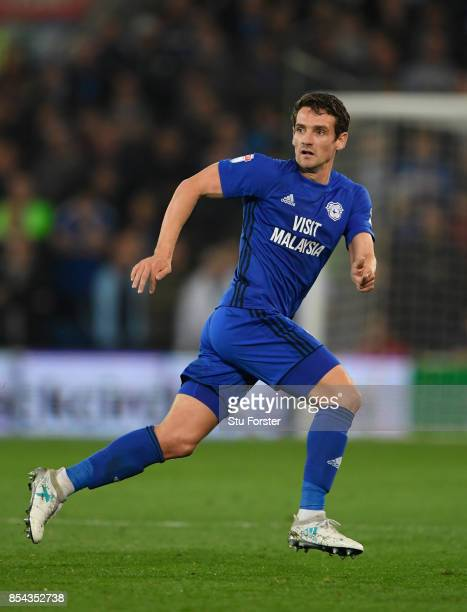 Cardiff player Craig Bryson in action during the Sky Bet Championship match between Cardiff City and Leeds United at Cardiff City Stadium on...
