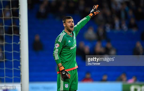 Cardiff player David Marshall in action during the Sky Bet Championship match between Cardiff City and Middlesbrough at Cardiff City Stadium on...