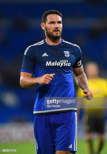 Cardiff player Sean Morrison in action during the Pre season friendly match between Cardiff City and Watford at Cardiff City Stadium on July 28 2015...