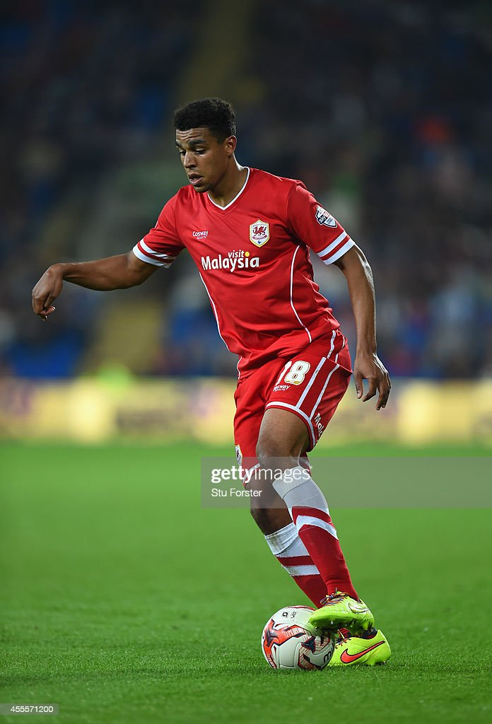 Cardiff player Tom Adeyemi in action during the Sky Bet Championship match between Cardiff City and Middlesbrough at Cardiff City Stadium on September 16, 2014 in Cardiff, Wales.