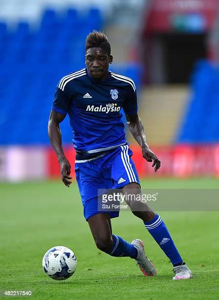Cardiff striker Sammy Ameobi in action during the Pre season friendly match between Cardiff City and Watford at Cardiff City Stadium on July 28 2015...