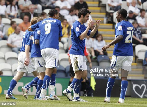 Cardiff's Peter Whittingham celebrates his goal during the npower football league match at Deepdale Preston
