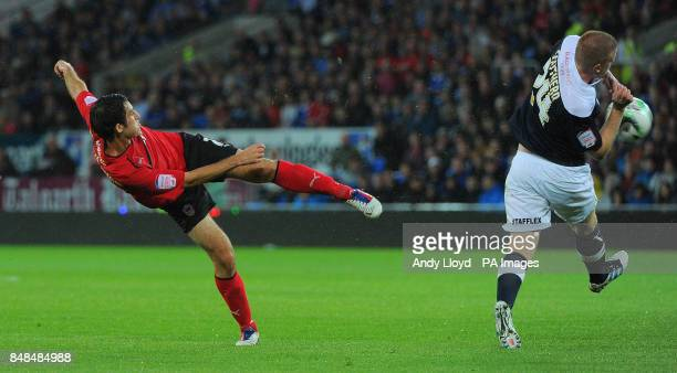 Cardiff's Peter Whittingham has a shot during the npower Football League Championship at Cardiff City Stadium Cardiff