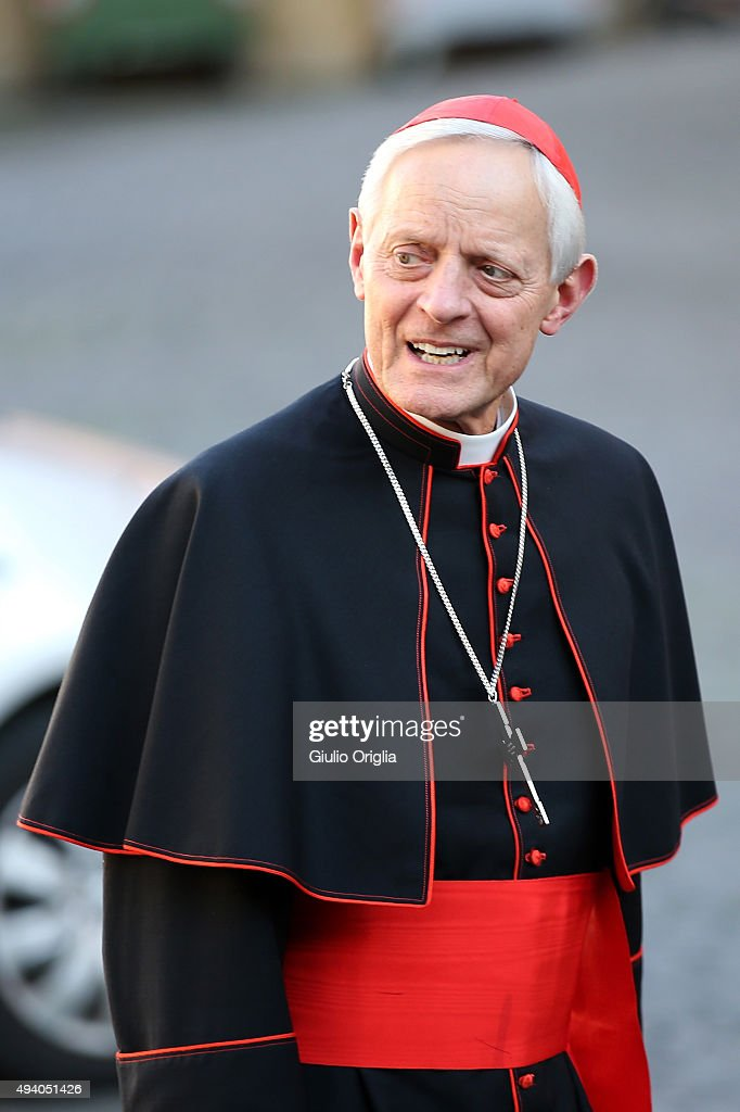 Cardinal Donald Wuerl arrives at the closing session of the Synod on the themes of family the at Synod Hall on October 24, 2015 in Vatican City, Vatican. Participants on Friday gave their reactions to a draft of the final document which is now being voted on by the bishops.
