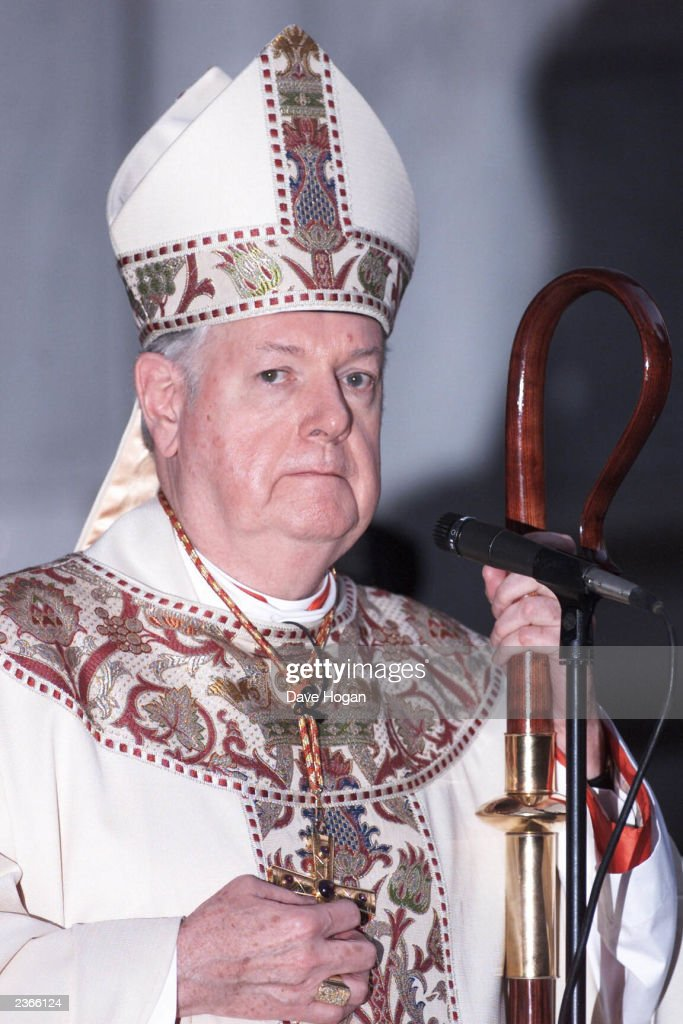 Cardinal Edward Egan, Archbishop of New York, at the Mass of Supplication at St. Patrick's Cathedral on September 16th, 2001. Photo by Dave Hogan/Mission Pictures/Getty Images
