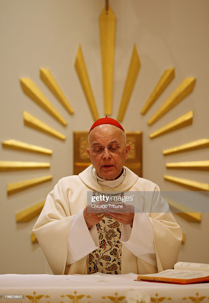 Cardinal Francis George is seen in this 2011 file photo during a private mass in Chicago Illinois Gay rights groups say the Chicago archbishop...