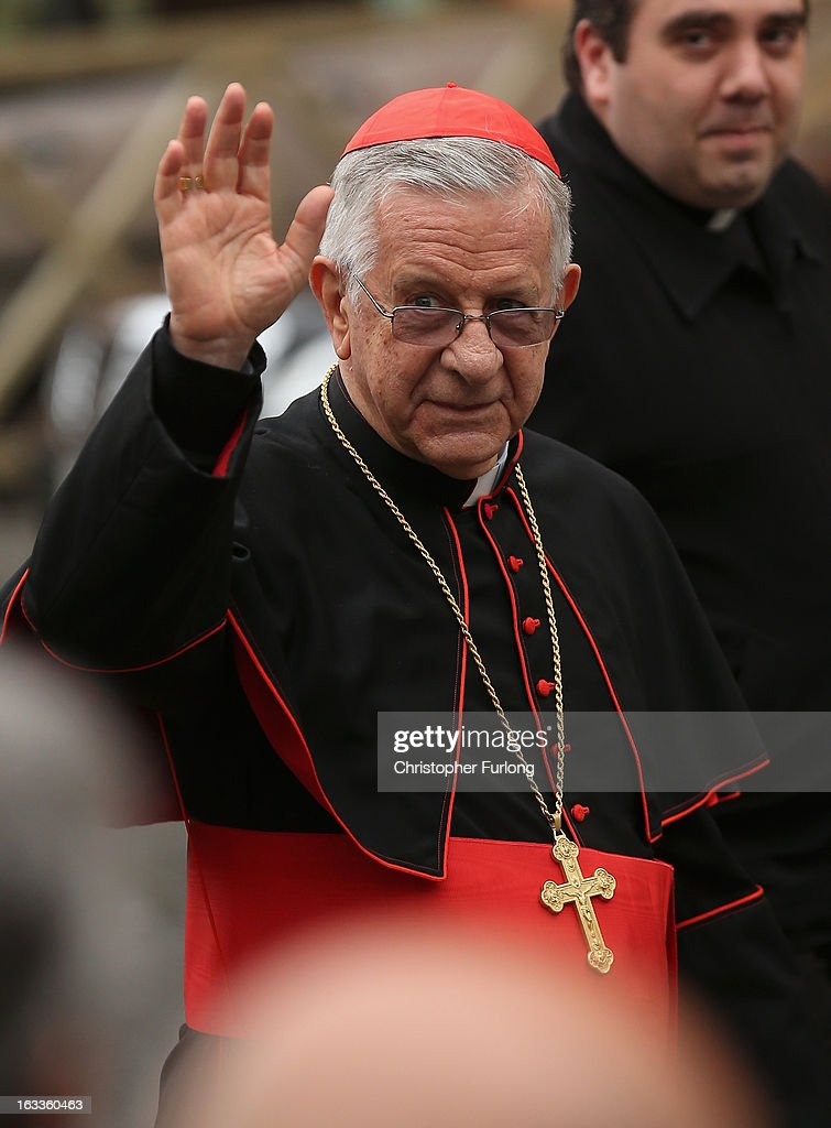 Cardinal Geraldo Agnelo of Brazil arrives for the eighth congregation at the Paul VI Hall inside the Vatican on March 8, 2013 in Vatican City, Vatican. Cardinals are set to enter the conclave to elect a successor to Pope Benedict XVI after he became the first pope in 600 years to resign from the role. The conclave is scheduled to start on March 12 inside the Sistine Chapel and will be attended by 115 cardinals as they vote to select the 266th Pope of the Catholic Church.