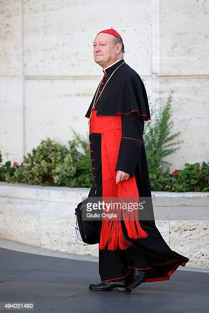 Cardinal Gianfranco Ravasil arrives at the closing session of the Synod on the themes of family the at Synod Hall on October 24 2015 in Vatican City...