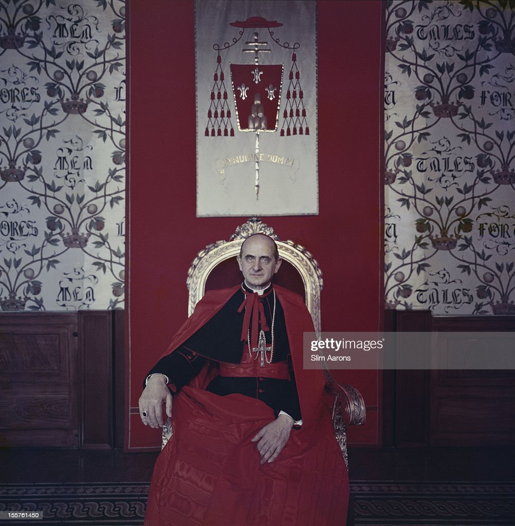 Cardinal Giovanni Battista Enrico Antonio Maria Montini (1897-1978) poses for a portrait in Milan, Italy, 1960. Montini reigned as Pope Paul VI from 1963 to 1978.
