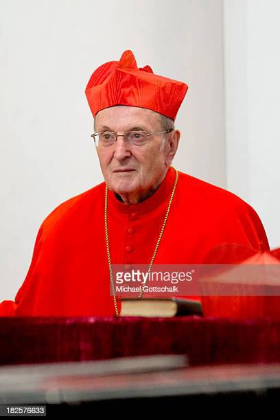 Cardinal Joachim Meisner at the closing mass service of the Fall General Assembly of the German Bishops' Conference in the Fulda Cathedral on...