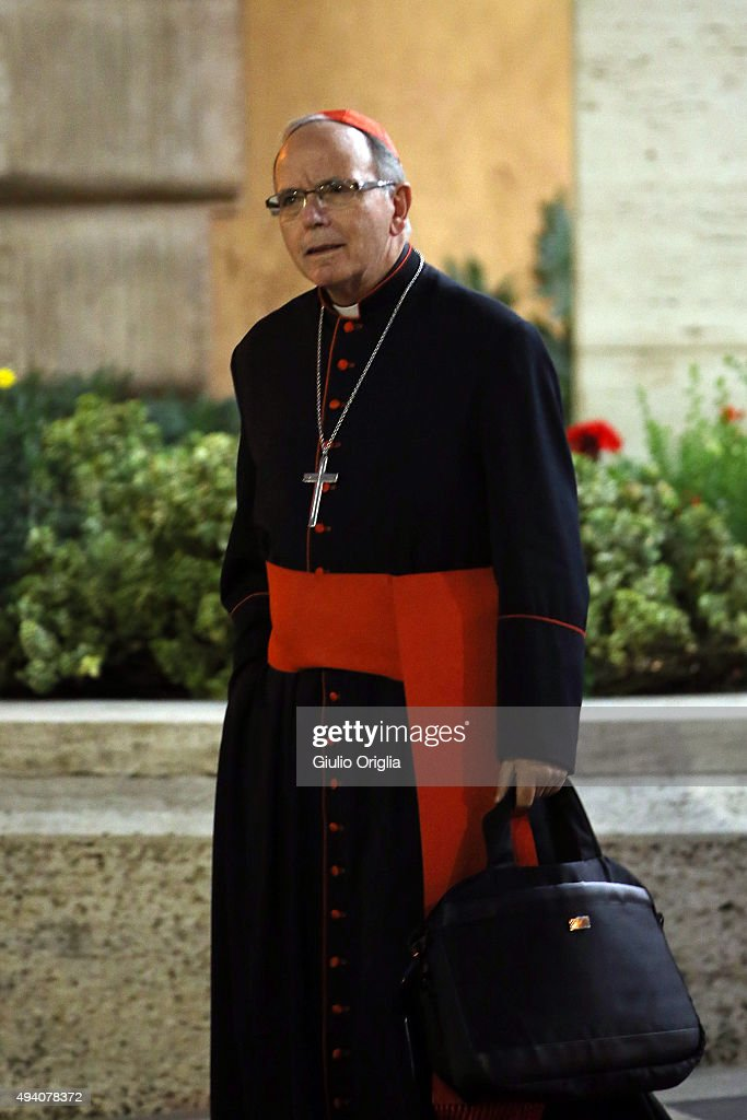 Cardinal Manuel Jose Macario do Nascimento Clemente leaves the closing session of the Synod on the themes of family the at Synod Hall on October 24, 2015 in Vatican City, Vatican. The final document has been welcomed by most as a carefully crafted work of art which seeks to balance the very different views and cultural perspectives of all Synod participants.